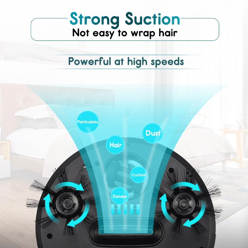 Home 4 in 1 Rechargeable Auto Cleaning Robot Smart Sweeping Robot Dirt Dust Hair Automatic Cleaner For Electric Vacuum Cleaners 6