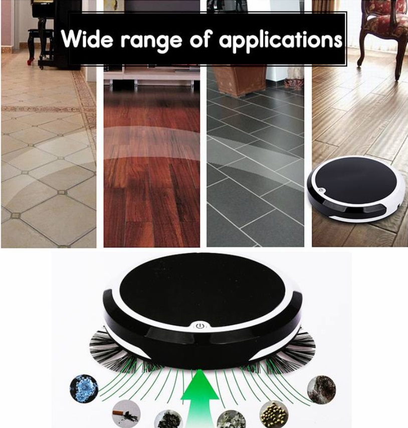 Home 4 in 1 Rechargeable Auto Cleaning Robot Smart Sweeping Robot Dirt Dust Hair Automatic Cleaner For Electric Vacuum Cleaners 2
