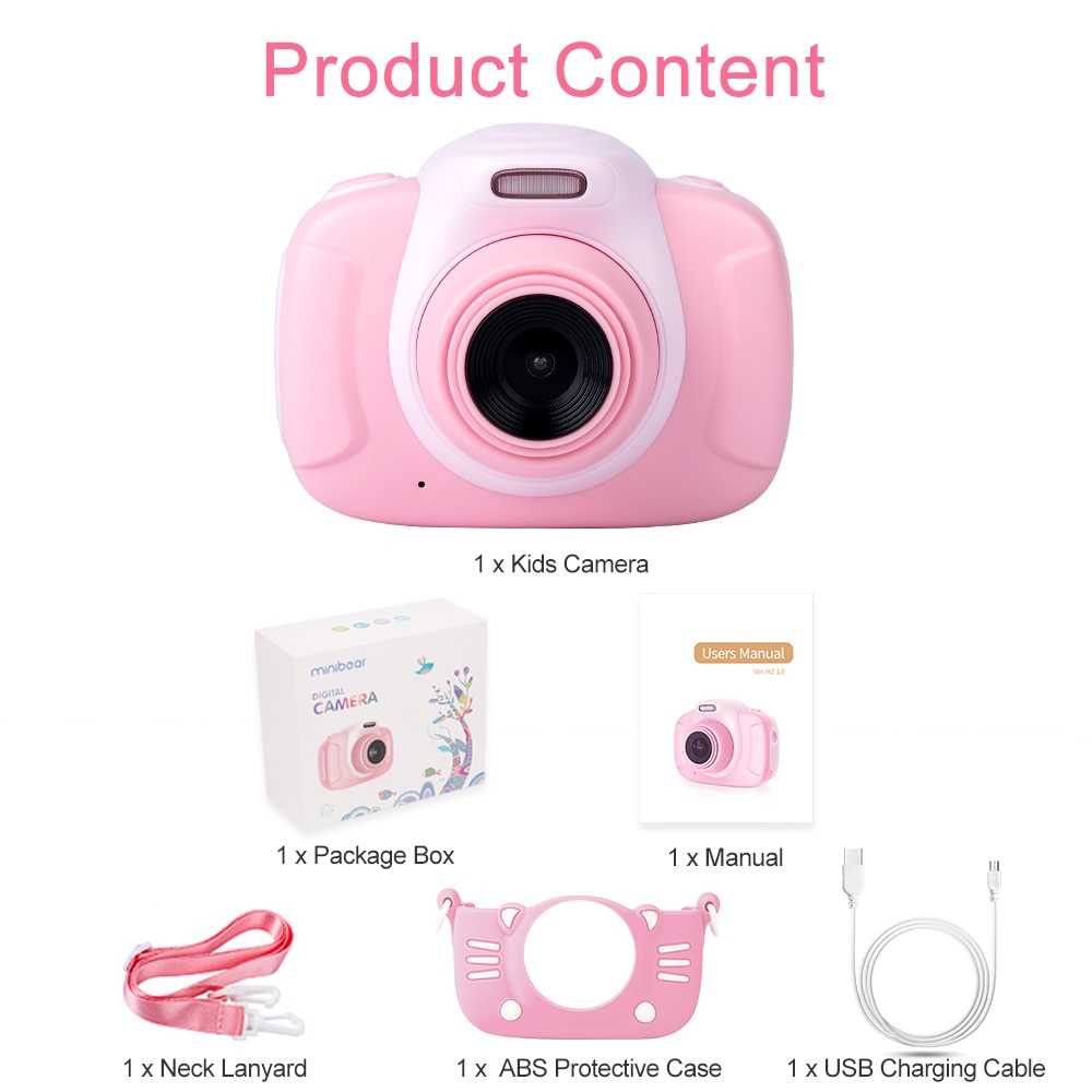 Mini Children's Camera 1080P HD Video Kids Toy Gift For Birthday 6