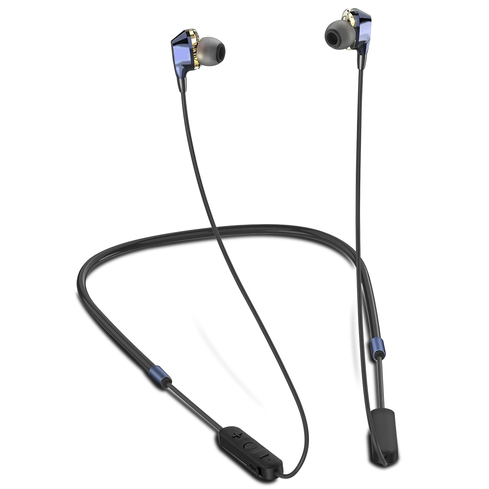 G02 Bluetooth Wireless Headphones Dual Drivers Stereo Magnetic with Mic 12H Music Time 7