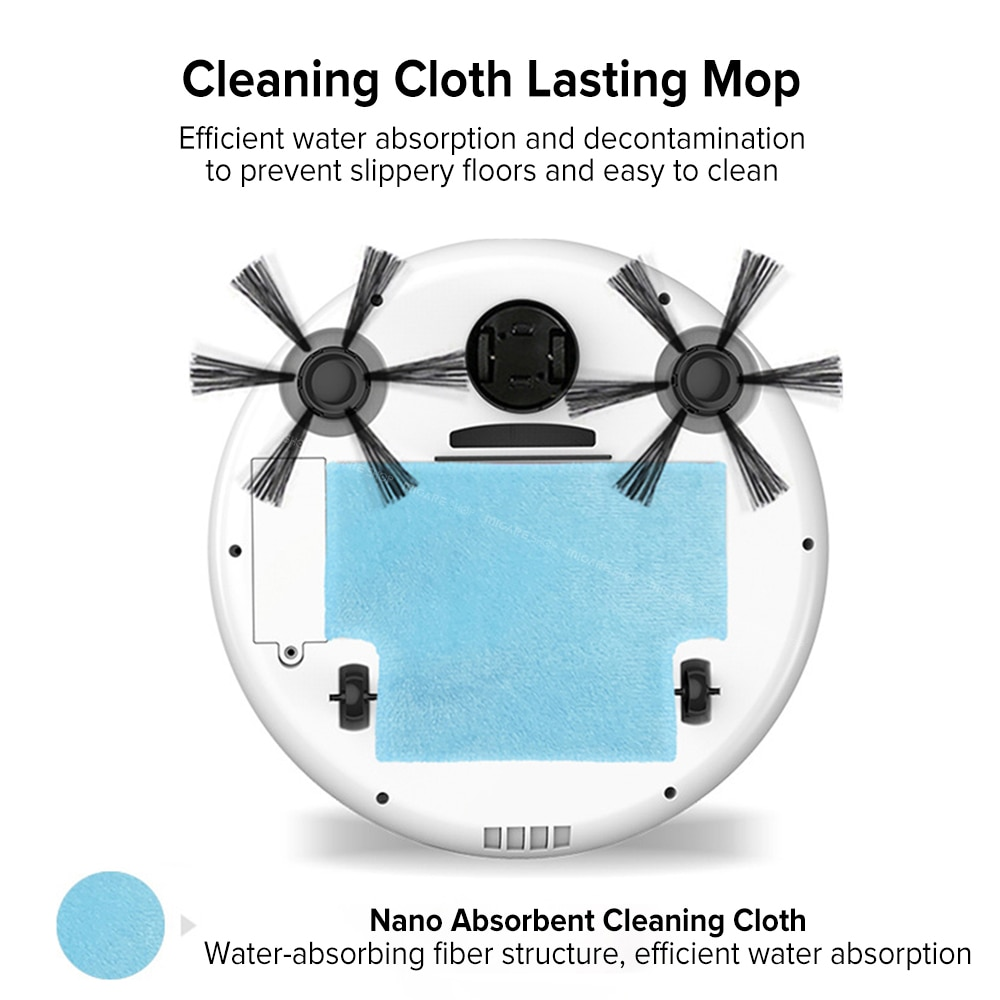 bowAI 1800PA Smart Auto Robot Vacuum Cleaner 3 In 1 Electric Rechargeable 5