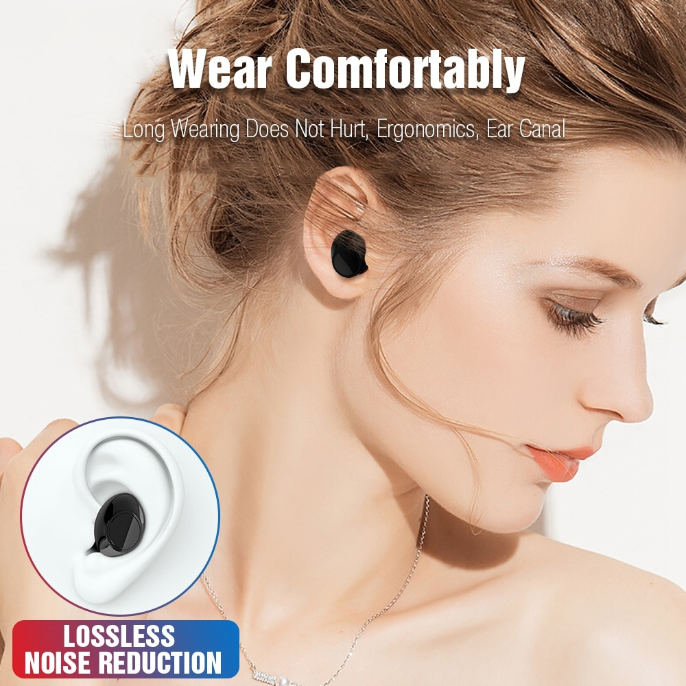 TOMKAS TWS Earbuds Wireless Bluetooth Headphones With Mic and Charging Box 2