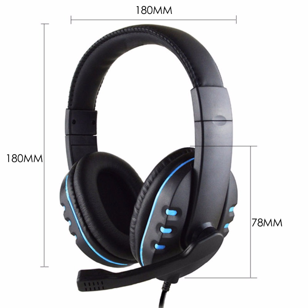 Wired Gaming Headset Deep Bass Game with Microphone HD for Computer PC 2