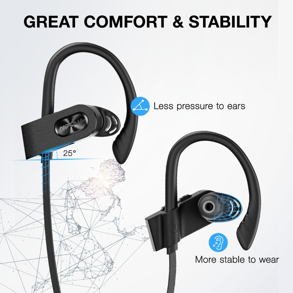 Mpow Flame 2 IPX7 Waterproof 13H Playback Bluetooth 5.0 Sports CVC6.0 Noise Cancelling Headphones 3
