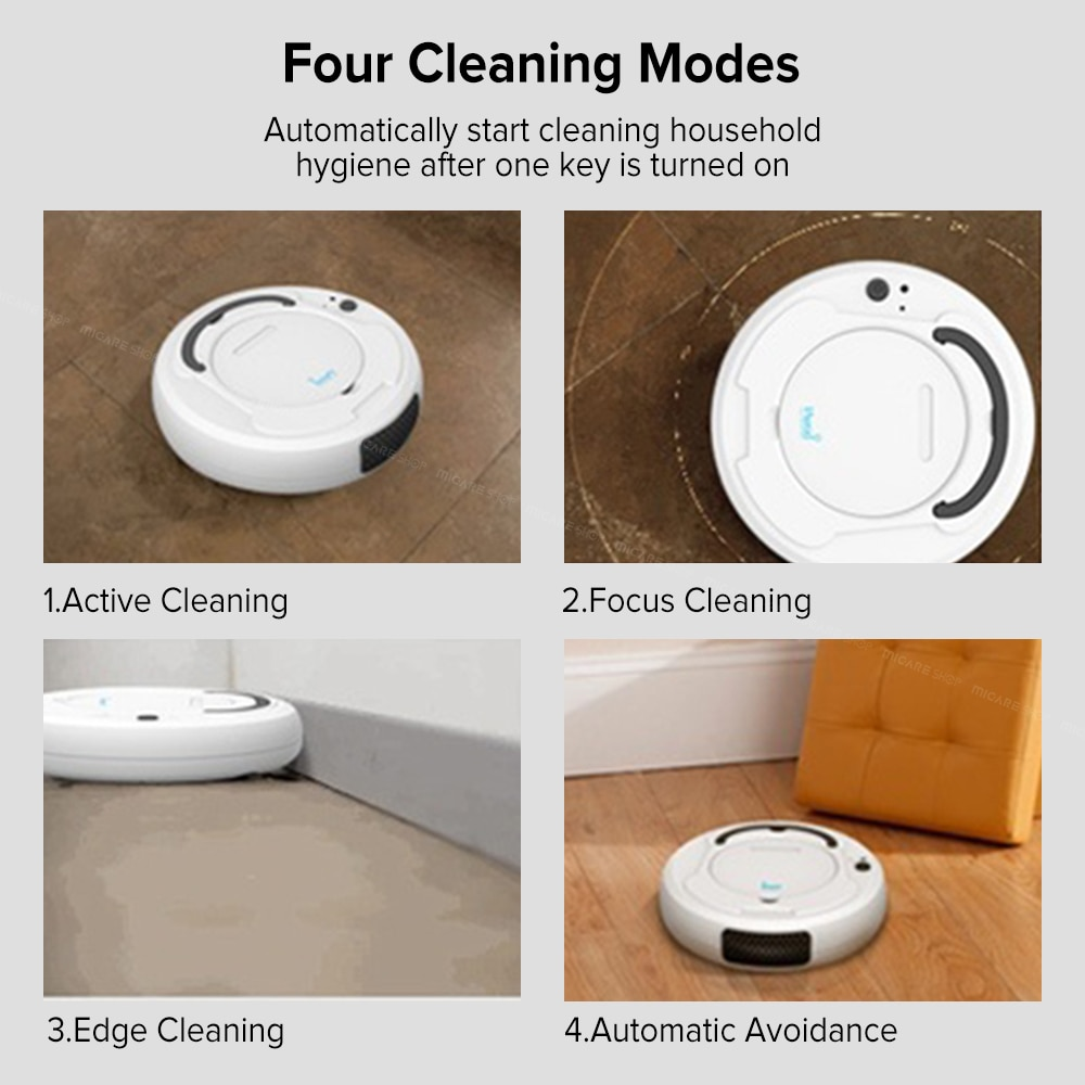 bowAI 1800PA Smart Auto Robot Vacuum Cleaner 3 In 1 Electric Rechargeable 6