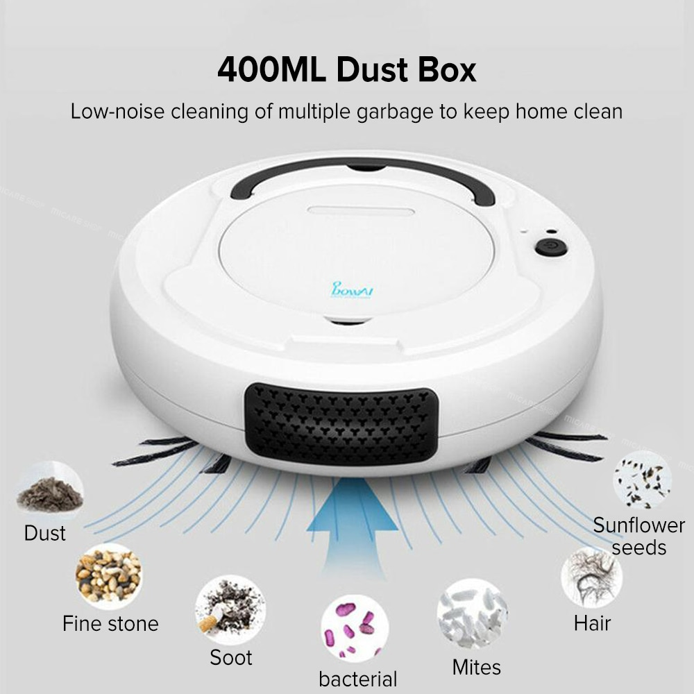 bowAI 1800PA Smart Auto Robot Vacuum Cleaner 3 In 1 Electric Rechargeable 3