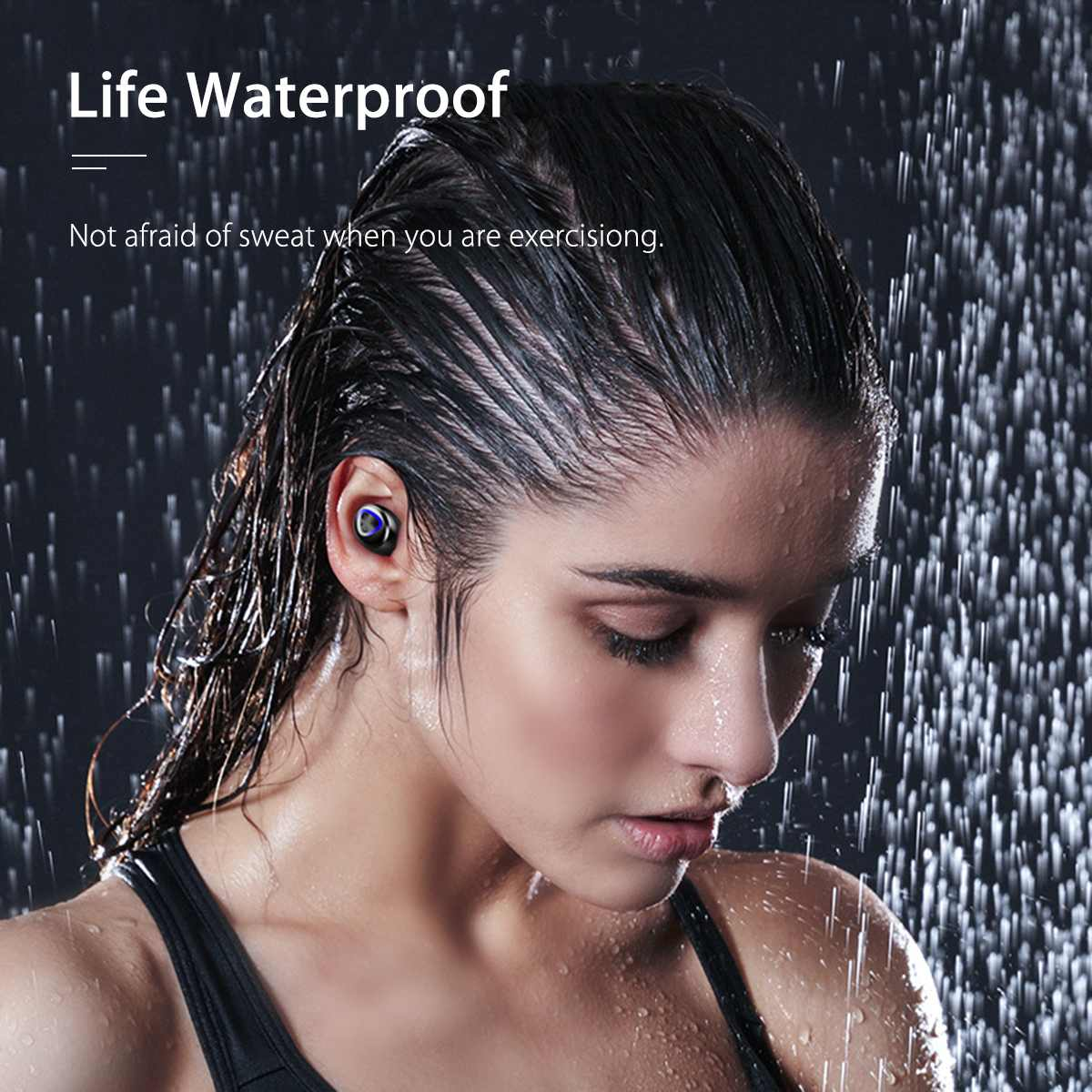 TWS True Wireless Earbuds Bluetooth V5.0 4000mAh Waterproof Active Noise-Cancellation 2