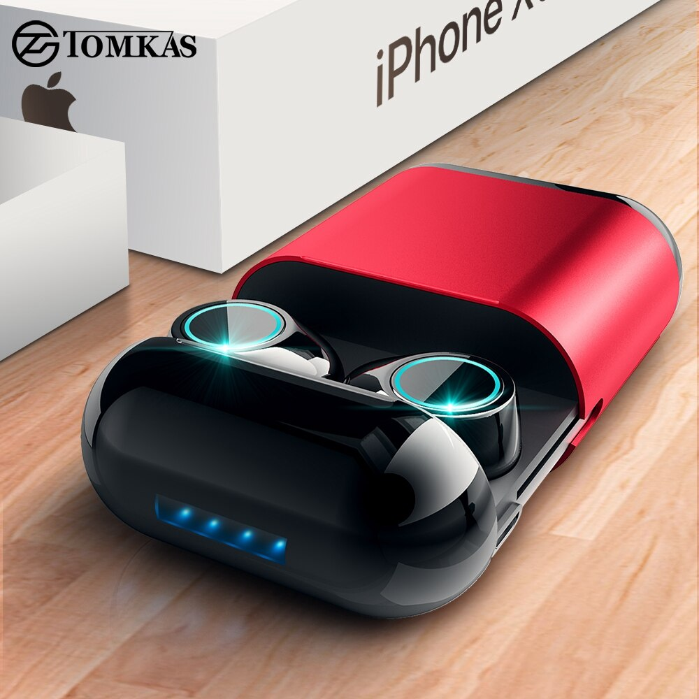 TOMKAS TWS Earbuds Wireless Bluetooth Headphones With Mic and Charging Box 1