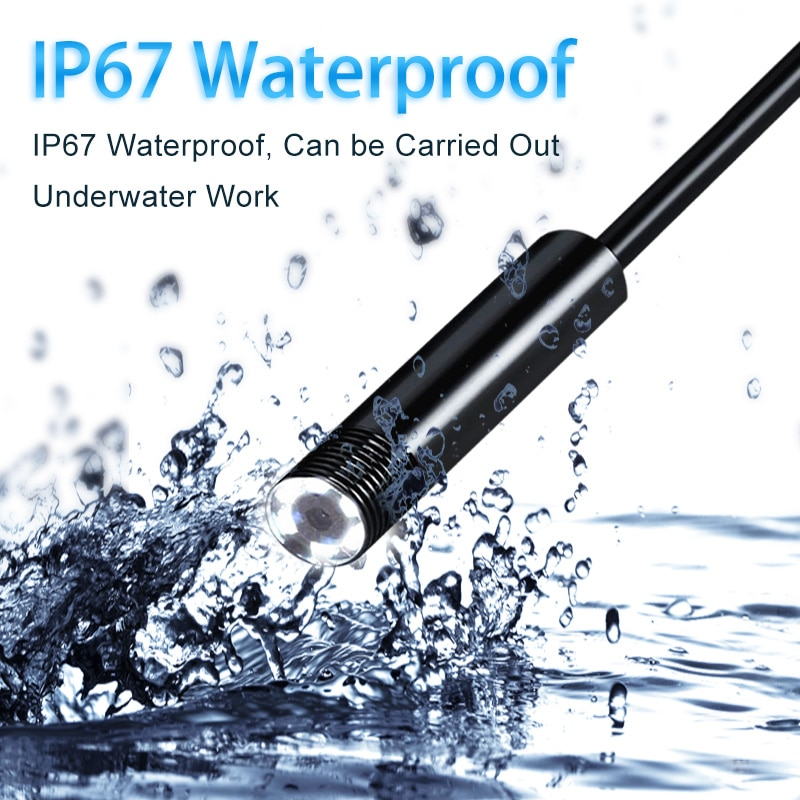 Wire Mini Endoscope Camera IP67 Waterproof 5.5mm Lens Borescopes for Android, PC 3
