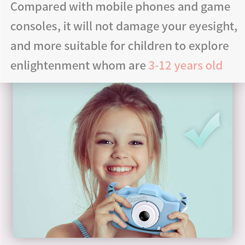 X5S Children's Mini Camera Rechargeable Cute Kid's Toy For Birthday Gift 4