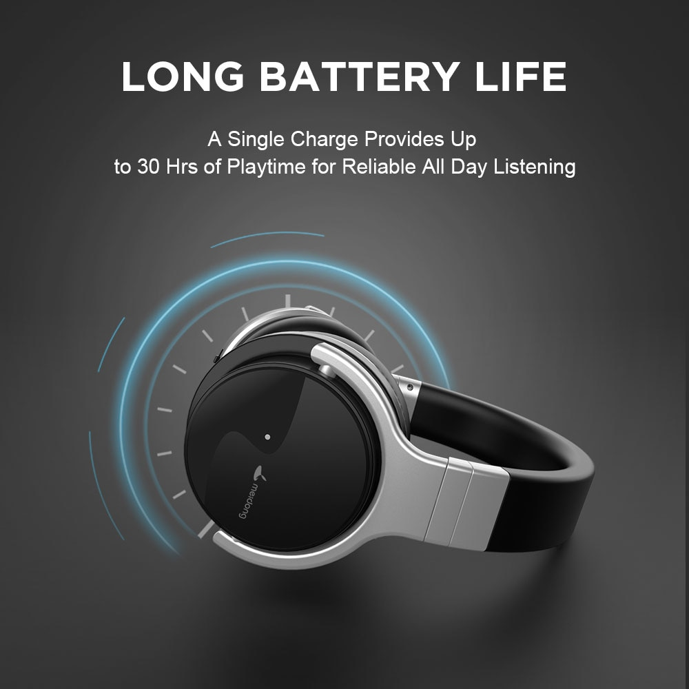 Meidong E7B Wireless Bluetooth Active Noise Cancelling Over Ear Headphones 30 Hours with Microphone 3