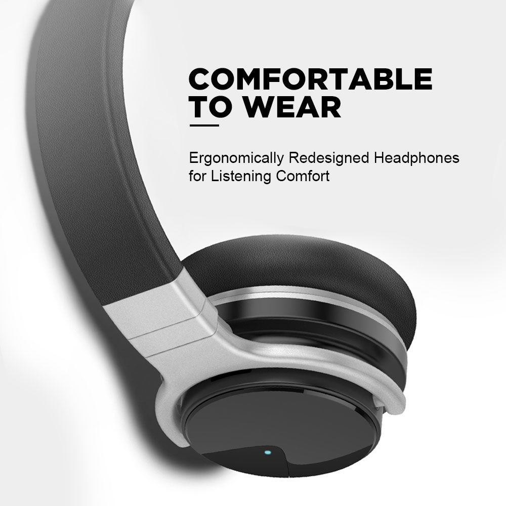 Meidong E7B Wireless Bluetooth Active Noise Cancelling Over Ear Headphones 30 Hours with Microphone 5