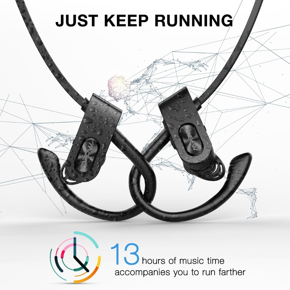 Mpow Flame 2 IPX7 Waterproof 13H Playback Bluetooth 5.0 Sports CVC6.0 Noise Cancelling Headphones 2
