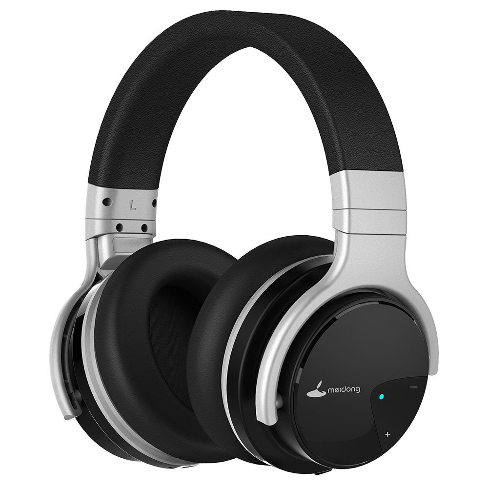 meidong e7b wireless bluetooth active noise cancelling over ear headphones 30 hours with microphone