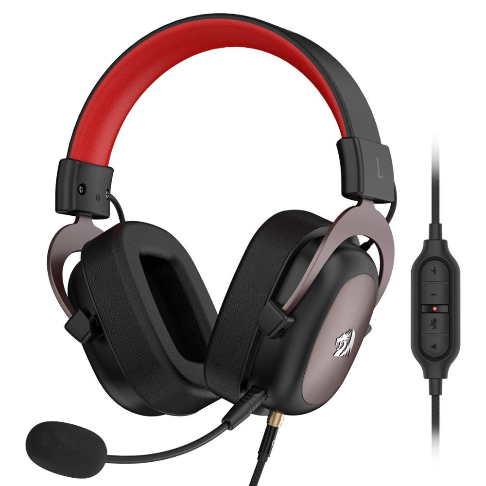 redragon h510 zeus wired gaming headsets with detachable microphone