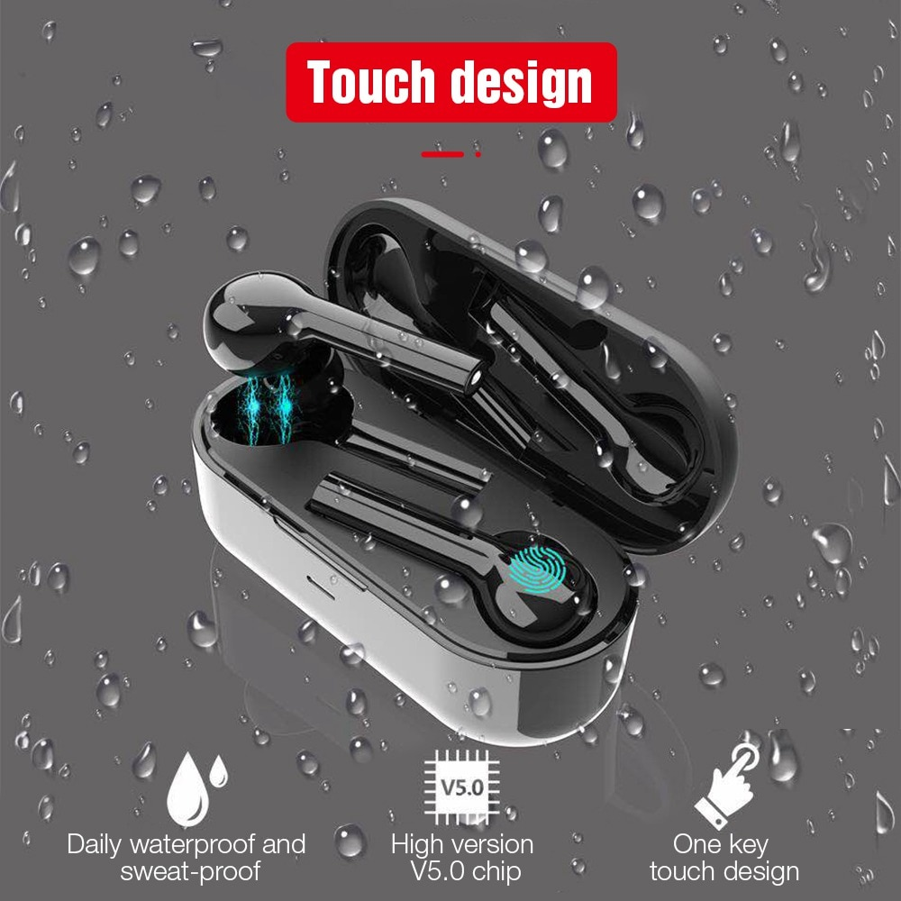 TOMKAS Mini TWS Earbuds Bluetooth Wireless Headphones with Microphone, Waterproof, Freebud and Touch Control 4