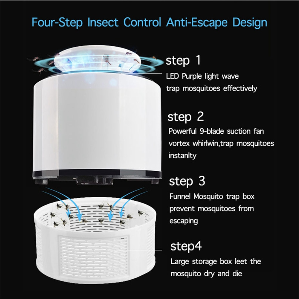 USB Powered Led Electric Mosquito Killer Lamp – Quiet + Non-Toxic 2