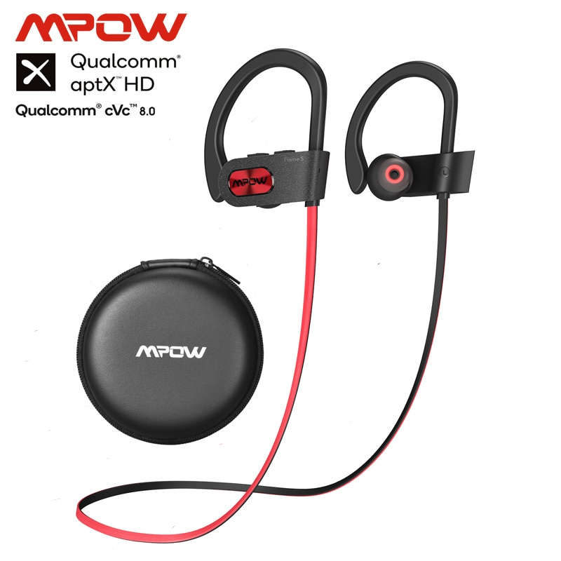 Mpow Flame S Bluetooth 5.0 Wireless CVC 8.0 Noise Cancelling Headphones Aptx-HD Sound iPX7 Sweatproof 12h Playtime 1