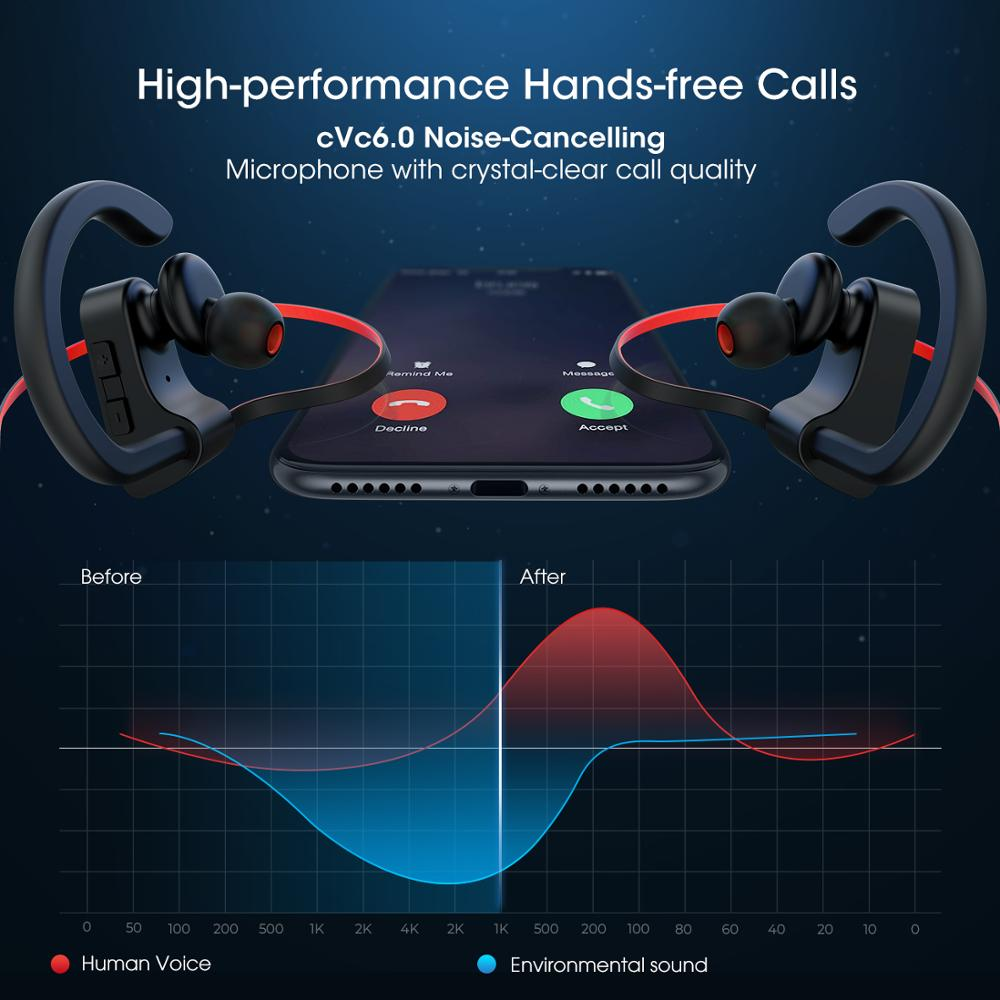 Mpow Flame IPX7 Waterproof Bluetooth 4.1 HiFi Stereo Noise Cancelling Headphones with Mic 4