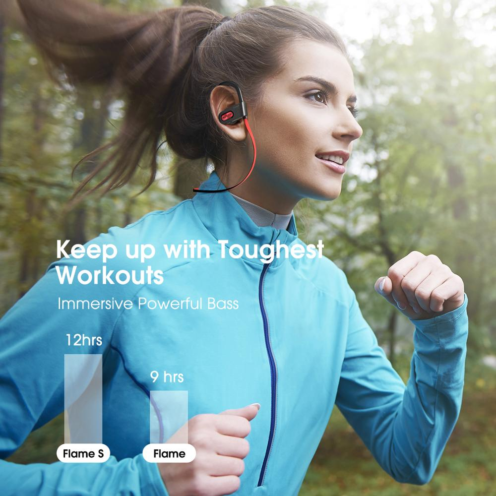 Mpow Flame S Bluetooth 5.0 Wireless CVC 8.0 Noise Cancelling Headphones Aptx-HD Sound iPX7 Sweatproof 12h Playtime 4
