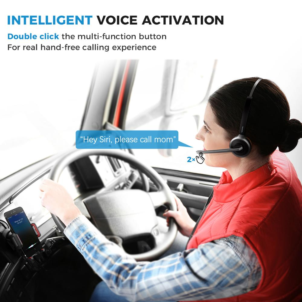 Mpow M5 Noise Cancelling Bluetooth Headsets with Mic, Charging Base for Cell Phone, PC, Laptop, Truck Driver, Office, Call Center, Skype 2