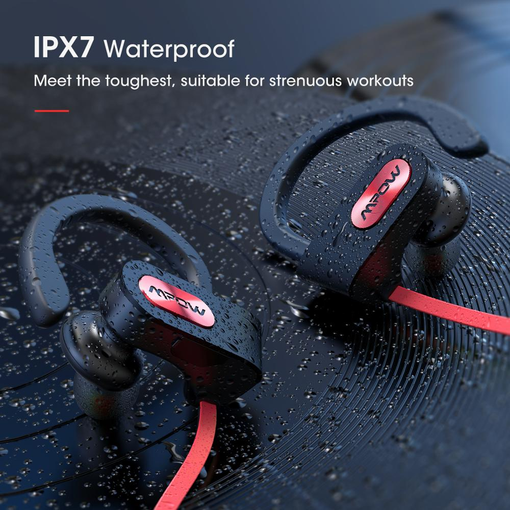 Mpow Flame IPX7 Waterproof Bluetooth 4.1 HiFi Stereo Noise Cancelling Headphones with Mic 5