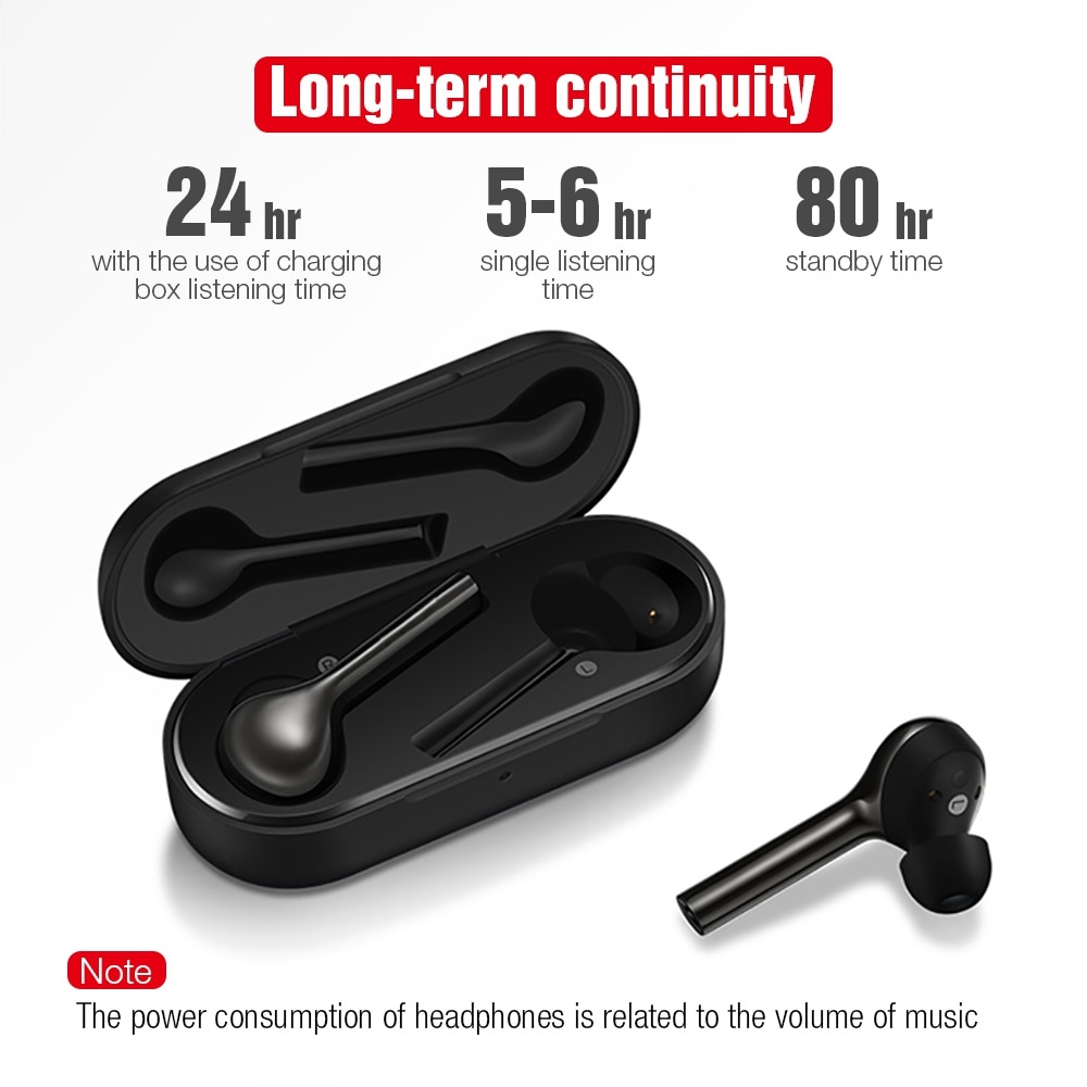 TOMKAS Mini TWS Earbuds Bluetooth Wireless Headphones with Microphone, Waterproof, Freebud and Touch Control 5