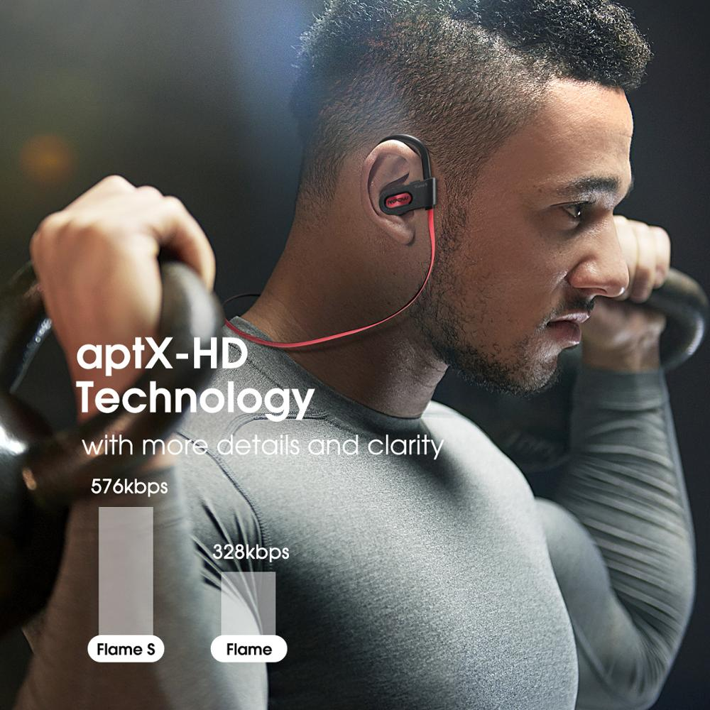 Mpow Flame S Bluetooth 5.0 Wireless CVC 8.0 Noise Cancelling Headphones Aptx-HD Sound iPX7 Sweatproof 12h Playtime 6