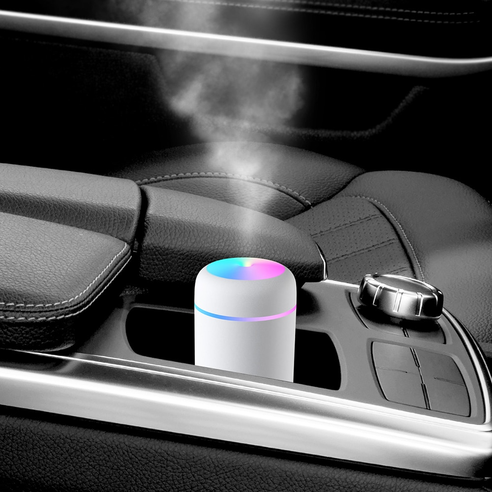 USB Portable Mini Air Humidifier LED Ultrasonic Aroma Air Diffusers 300ml Cool Mist Essential Oil 6
